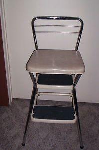Vtg. Retro Cosco Step Stool Chair Chrome Padded Flip Seat $92.50 & 18 best Step Stools images on Pinterest | Step stools Stool chair ... islam-shia.org
