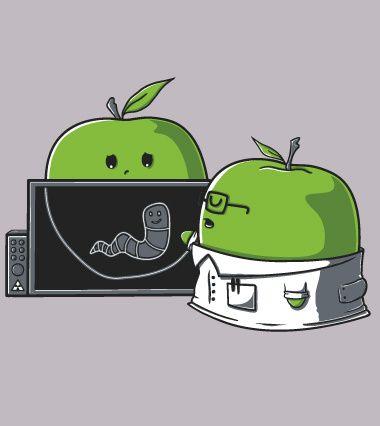 Is it serious Doctor? - tee shirt apple - un design laFraise original de Wirdou