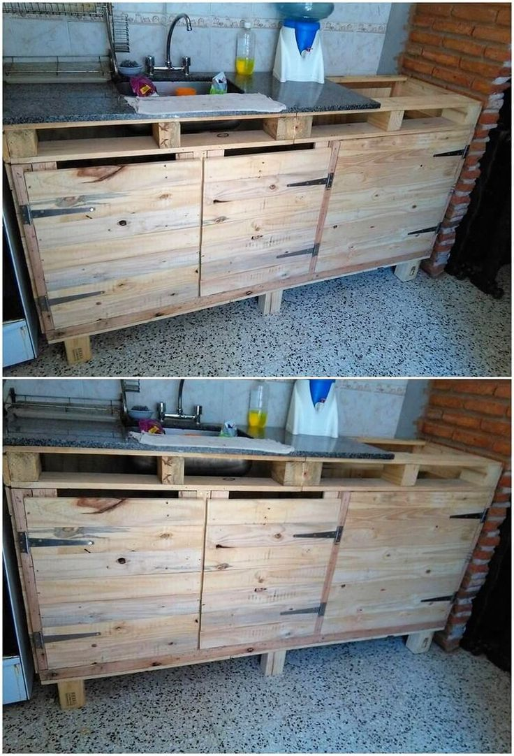You can often think about catching the mind-blowing use of the wood pallet in the creative artwork designing of the sink in the form of cabinet blend too. This whole project do give out the favorable attractive variation effect piece where the bottom side would make you offer with the cabinets.