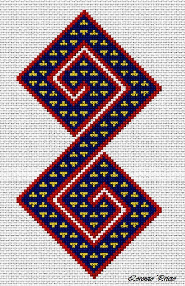 Motivo geométrico wayuu tradicional
