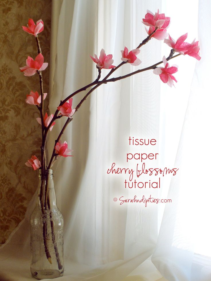 Things to Make  Tissue Paper Cherry Blossom Tutorial   Sarahndipities
