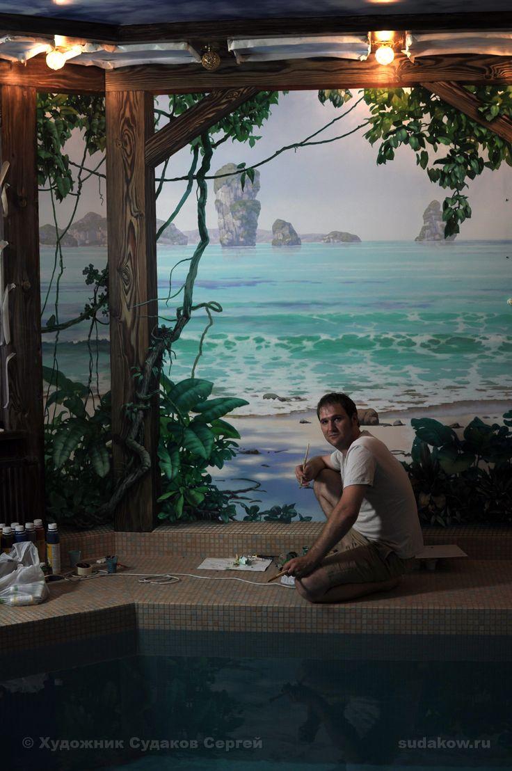 бассейн росписи стен