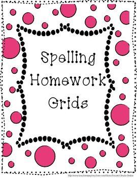 Spelling Homework Grids- Second Grade Smiles (Freebie!)