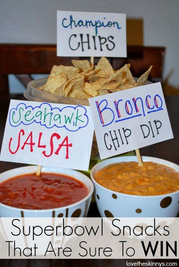 Love, The Skinnys: Superbowl Snacks for the WIN