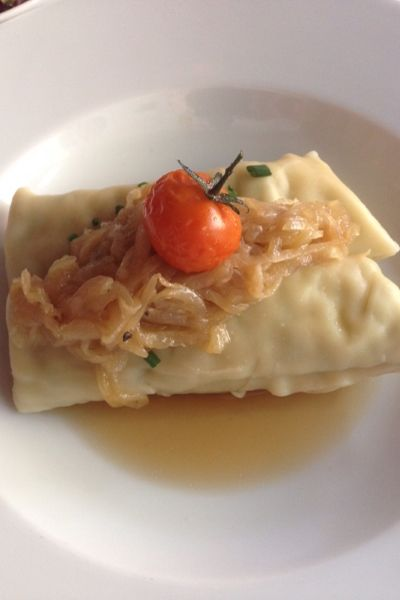Maultaschen, Germany's Giant Ravioli With Lots of Stuffing. Photo Credit: John Voigt.
