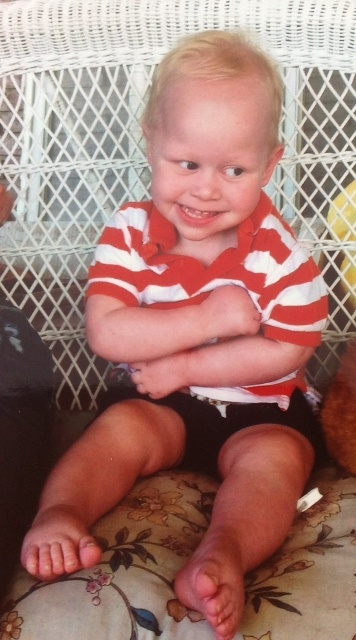 My grandson, Quintin.  He is such a cutie!!