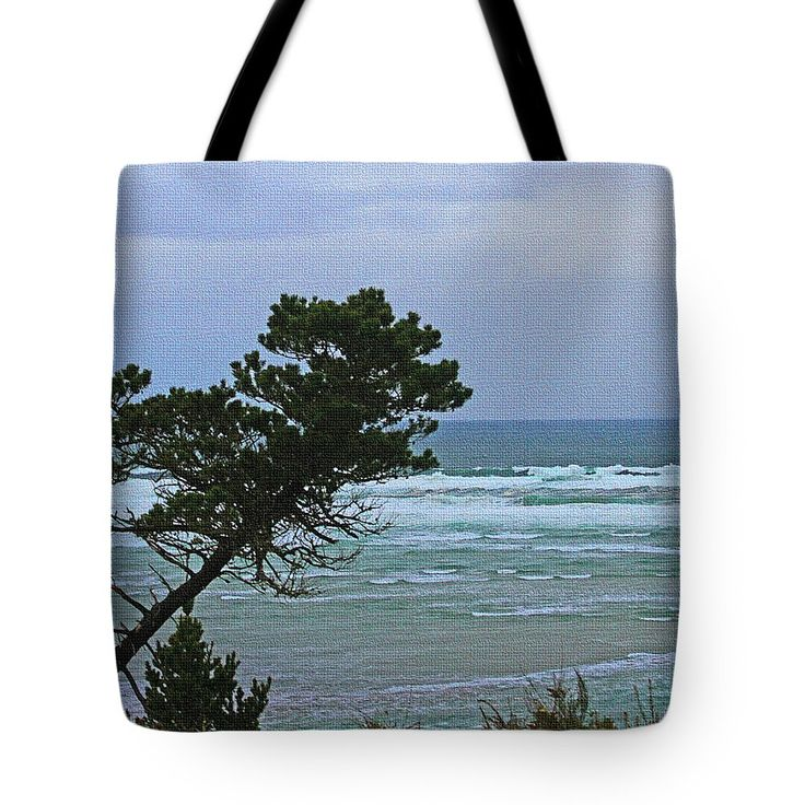 Along The Oregon Coast Tote Bag by Tom Janca.  The tote bag is machine washable, available in three different sizes, and includes a black strap for easy carrying on your shoulder.  All totes are available for worldwide shipping and include a money-back guarantee.