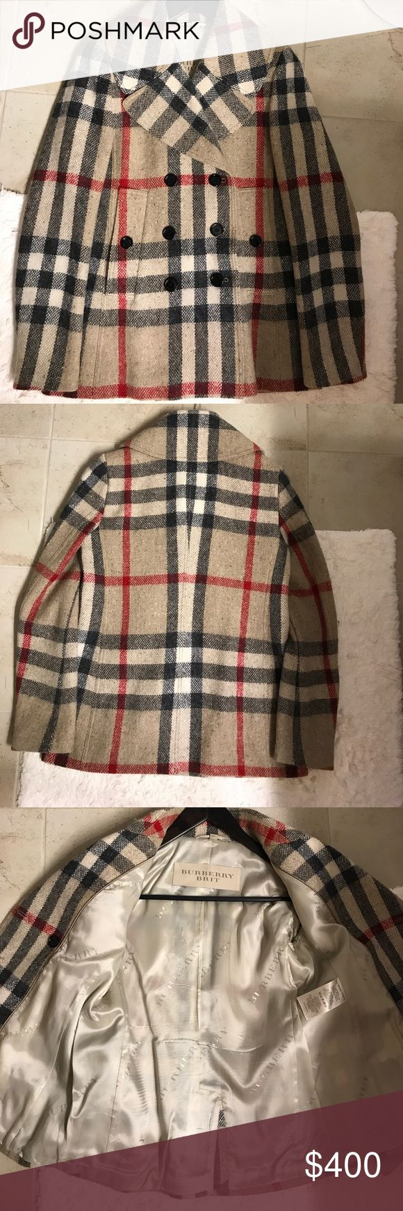 Burberry Women's Peacoat Size 8 Excellent condition.  Front pockets, back vent, double breasted, non smoke home. Burberry Jackets & Coats Pea Coats