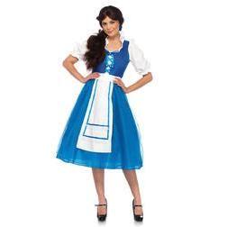 Disfraz de Bella con vestido azul para mujer