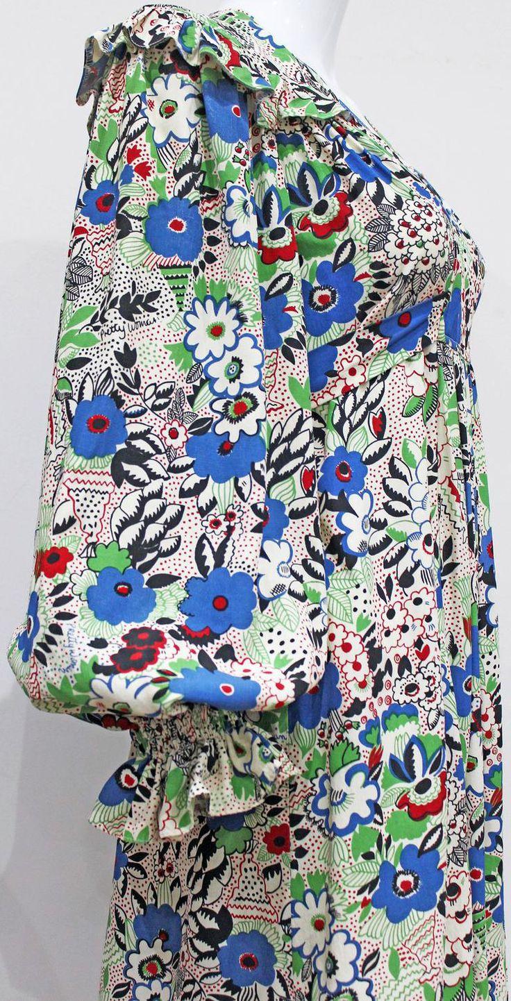 Ossie Clark et Celia Birtwell - Robe Mini 'Fleurettes' - Années 70                                                                                                                                                                                 More