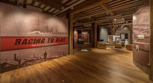 Racing to War, the first in a series of special exhibitions telling the story of the Royal Navy and World War 1.