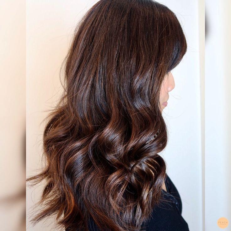 Soft highlights in dark, asian hair :)