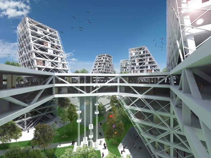 Ideal Gallery of Badel Block Complex Proposal Luka Anic Danko Balog Tamara Baresic Srdan Gajic