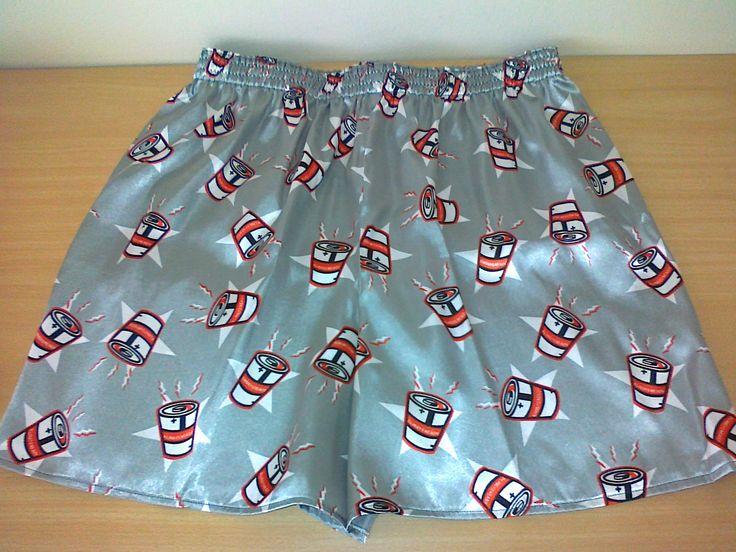 Satin sleep shorts.