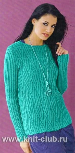 Схема вязания резинки спицами свитера