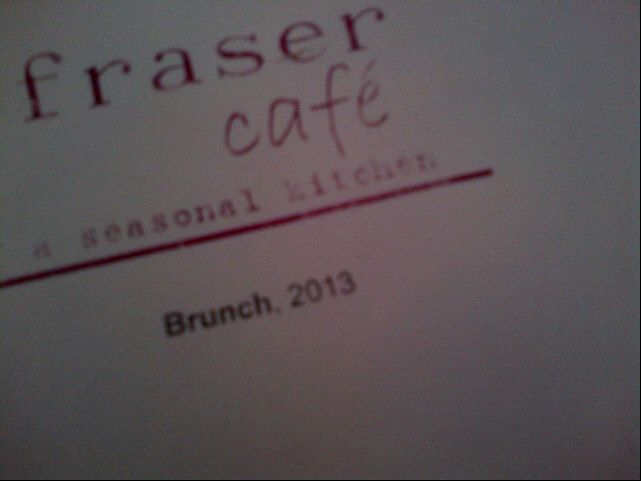 Fraser Cafe in Ottawa, ON. A gorgeous and delicious seasonal kitchen.