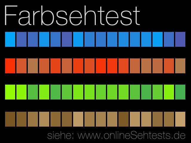 Farbsehtest online - Teste Deine Augen! Wie gut kannst Du Farben unterscheiden? #sehtest #color #farben #visualeyetest
