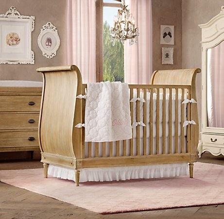 Frayed Ruffle & European Vintage-Washed Percale Nursery Bedding Collection   Nursery Bedding Collections   Restoration Hardware Baby & Child