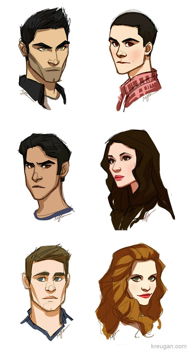 teen wolf: animated series by ~kreugan on deviantART I don't watch Teen Wolf, but I find this really cool for some reason.