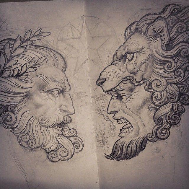 Zeus Greekstatue Tattoos Griechische Mythologie 11