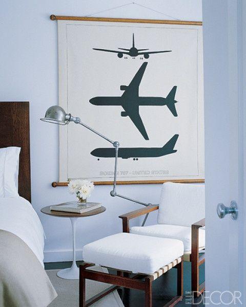 Airplane photo art. great accessory for child's room. (elle decor). -via Interior Canvas