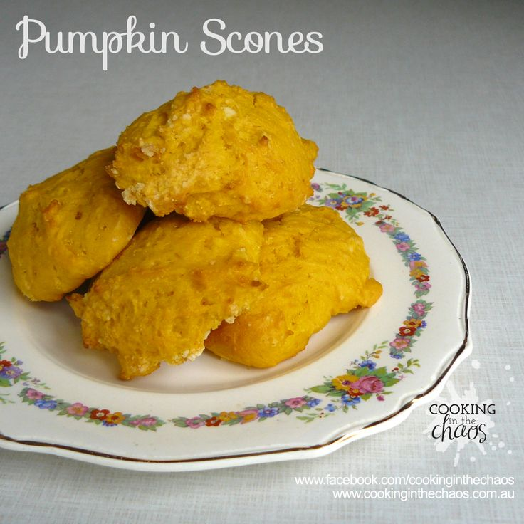 Pumpkin Scones - Thermomix Recipe - Cooking in the Chaos