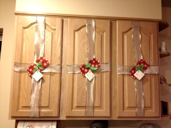 A Cheap And Easy Way To Decorate Your Cabinets. Fill Every