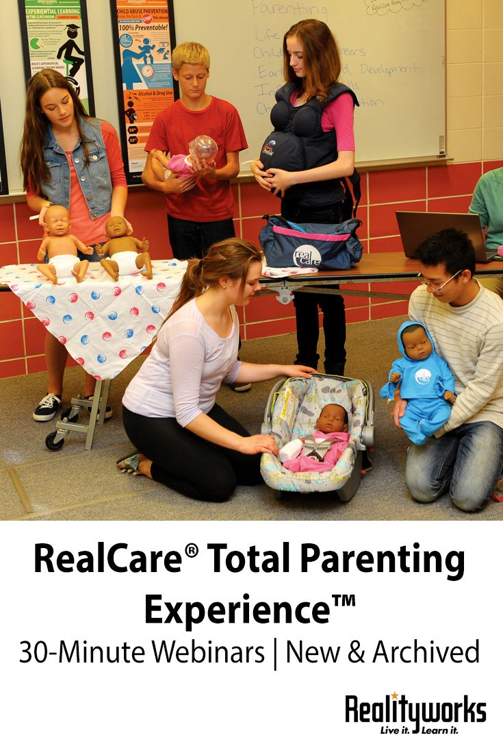 From product storage and organization ideas to curriculum reviews and program best practices, our RealCare® webinars address a variety of topics related to our RealCare® Total Parenting Experience products and curricula.