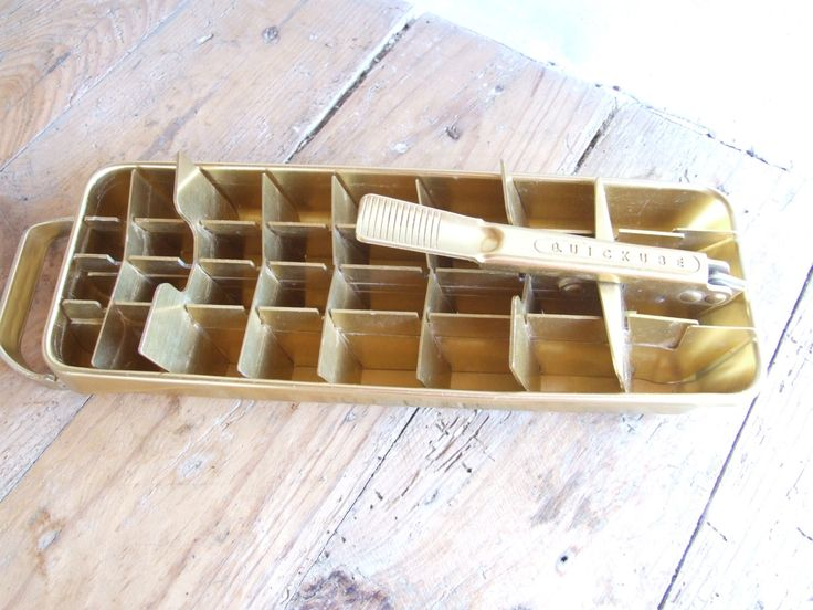 Ice Make // French Vintage Ice Maker // Frigidaire // Retro Gold Frigidare Ice Maker - pinned by pin4etsy.com