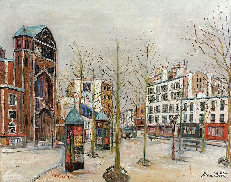Maurice Utrillo Place des Abesses à Montmartre, circa 1931 73 x 92 cm Estimation : 110 000-160 000 €