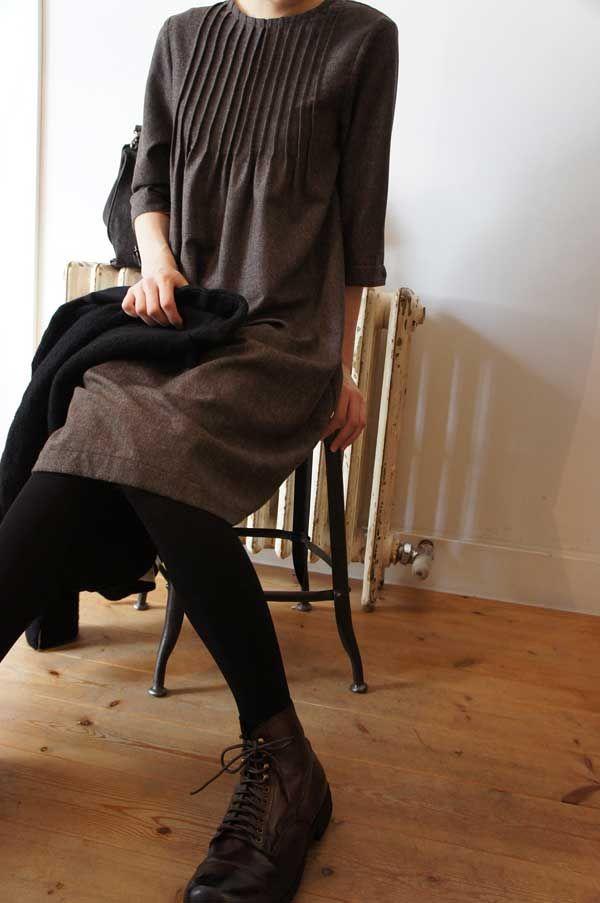dress, wool - frank leder | syuhari
