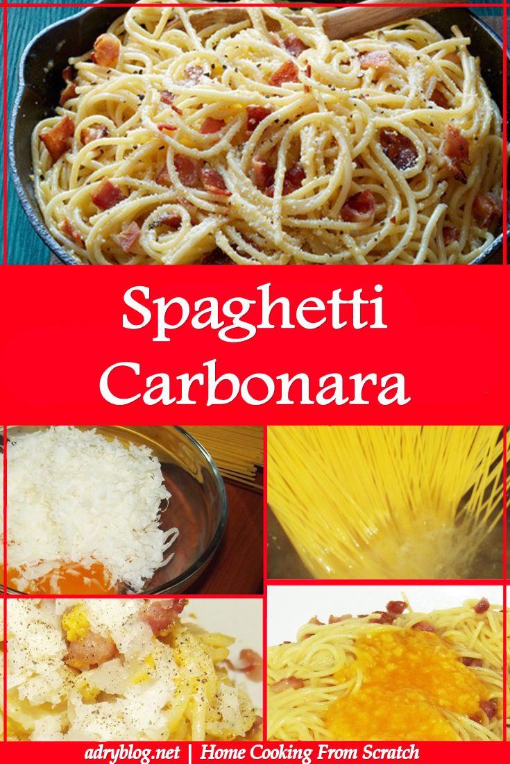 quick and easy spaghetti carbonara recipe