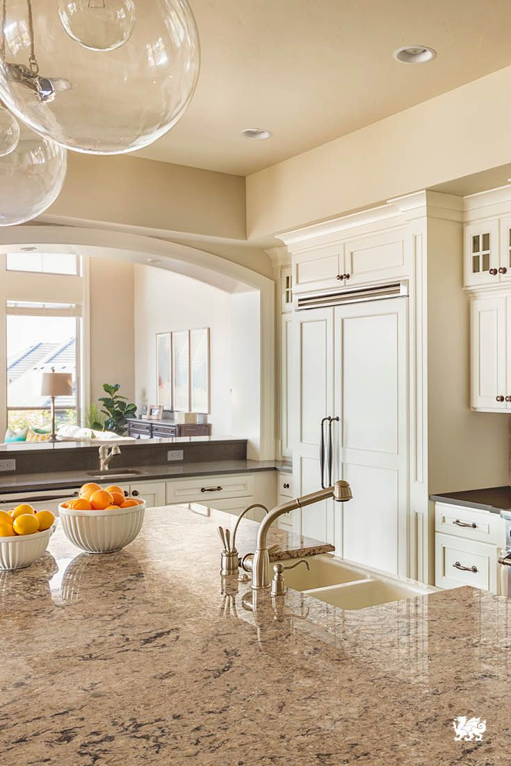 Classic Kitchen Style Is Made Modern With Cream Colored, White Cabinetry  Washed In The Moody