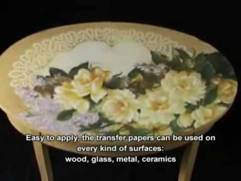 Decoupage in rilievo su legno- as relief on wood - YouTube