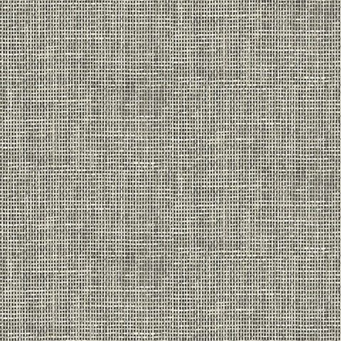 Woven Summer Charcoal Grid   Modern Textured Wallpaper, Give your walls texture with this grey wallpaper. The grid design has the look of a paper weave with the artistry of a watercolor finish. The monochrome design is perfect for a modern home.
