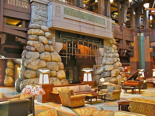 Grand Californian Hotel Fireplace