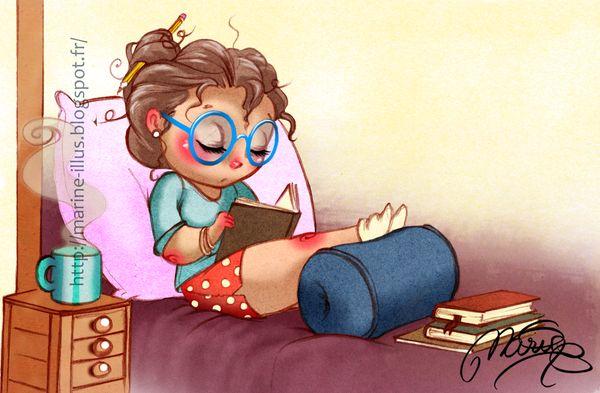 Choose, read, enjoy/Elijo, leo, disfruto ilustración de Marine Elphie