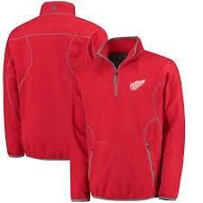 NHL Antigua Detroit Red Wings Ice Pullover Dark Red and Steel