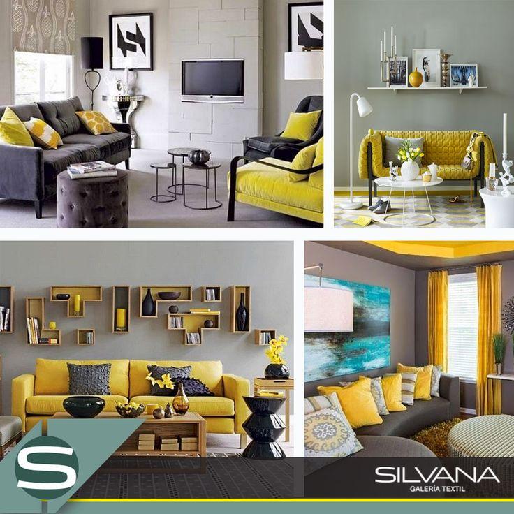 Combinación de grises y amarillo