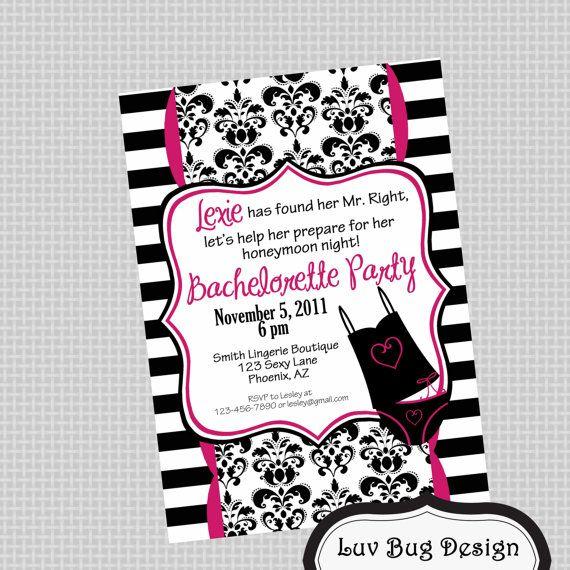 Fun and girly Bachelorette Invitation