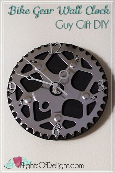 Bike Gear Wall Clock DIY | Via FlightsOfDelight.com
