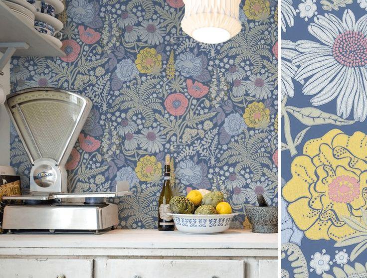 les 217 meilleures images du tableau papier peint fleurs sur pinterest. Black Bedroom Furniture Sets. Home Design Ideas