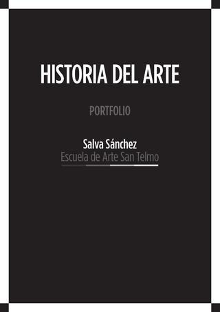HistoriadelArte  Maquetación del portfolio con el temario la asignatura Historia del Arte. Escuela de Arte de San Telmo - Málaga