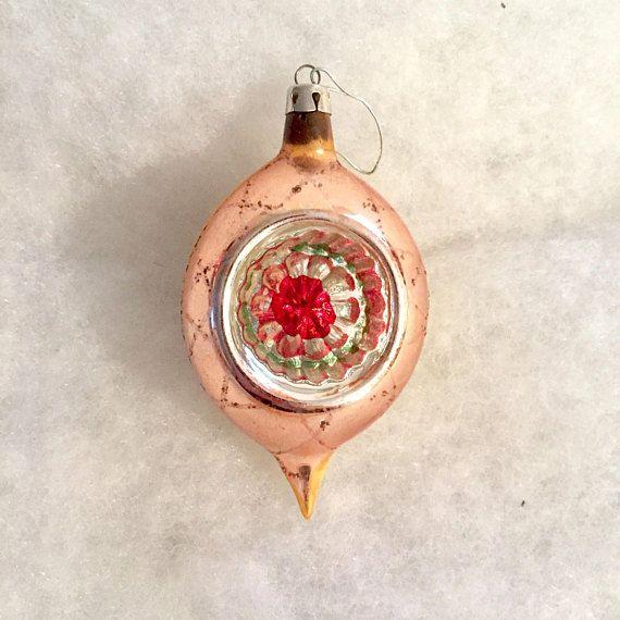 Vintage Glass Teardop Indent Ornament Pontil Red Concave #Vintage #Christmas #Reflector #Indent #Ornament #Teardrop #VintageOrnament #VintageChristmas #EtsyShop #OneStopSteamShoppe #vintageshop