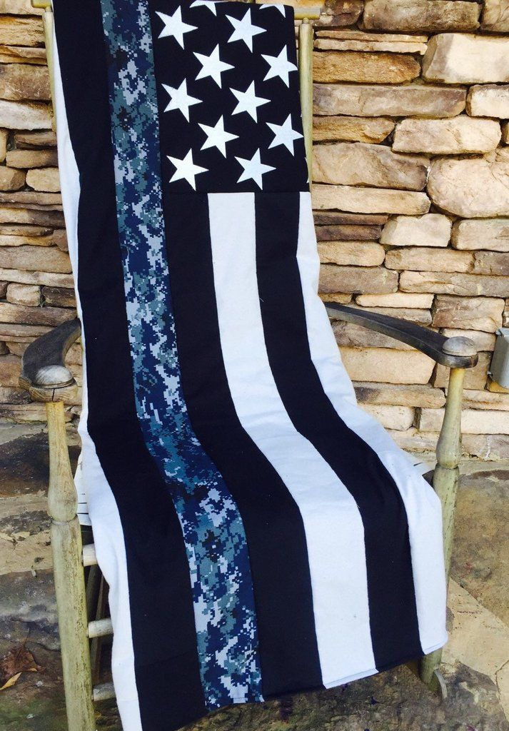 US NAVY Thin Line Throw/ Blanket Amazingly soft and great representation of the Navy patch commonly worn. Represent the brotherhood, friends, and family with this awesome U.S. NAVY Thin Line Blanket/T