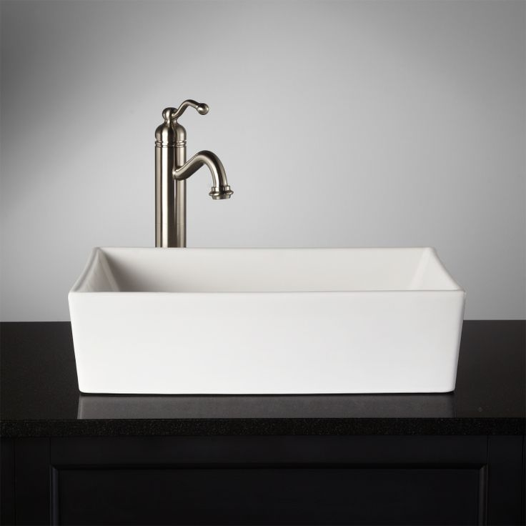 Abbett Rectangular Porcelain Vessel Sink