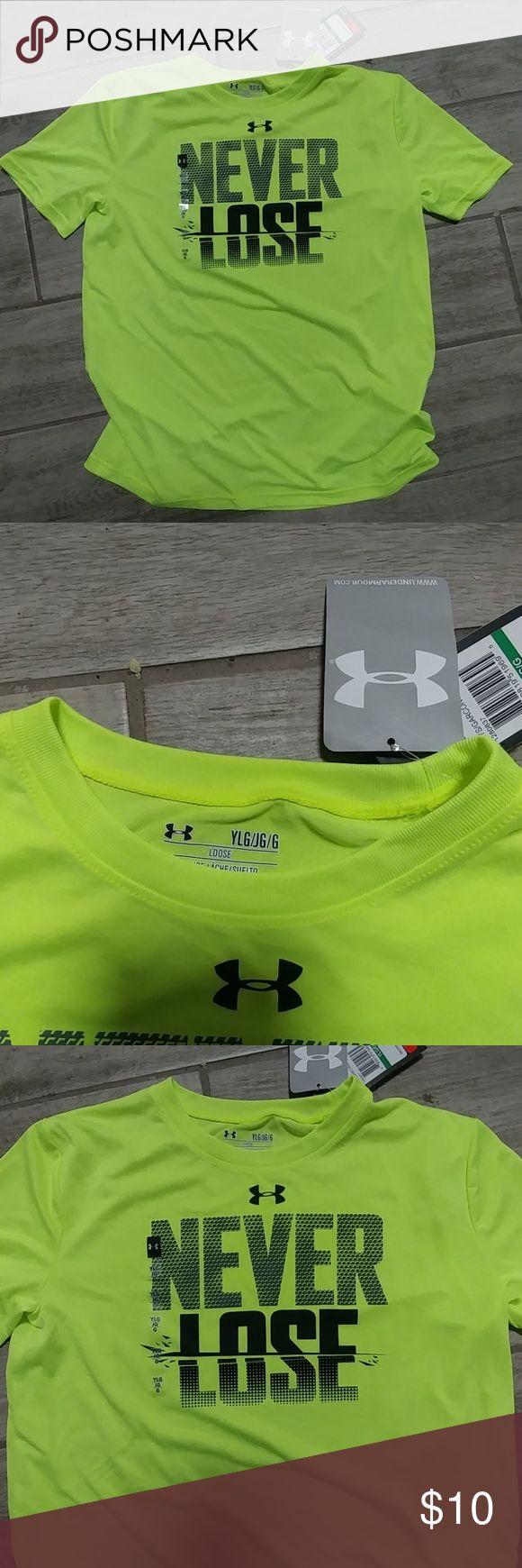 Shirt Kids slinky lime green loose sport tee. Heat gear technology. Keeps cool. underarmour Shirts & Tops Tees - Short Sleeve