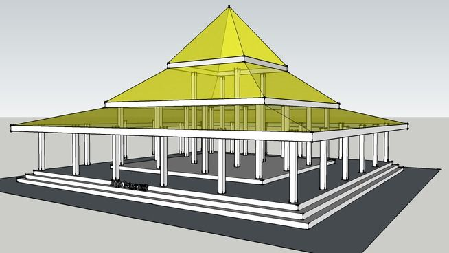 Rumah Jawa - Joglo Pengrawit - 3D Warehouse