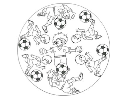 Voetbal Mandala