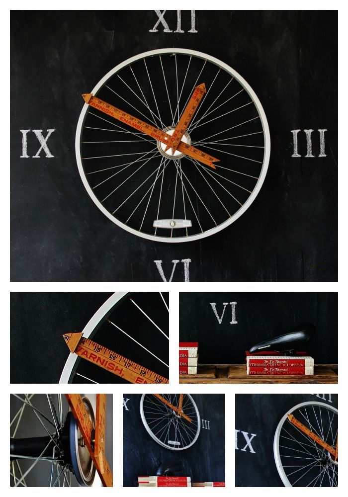 Bicycle Wheel Clock - Thistlewood Farm-  how cute is that???
